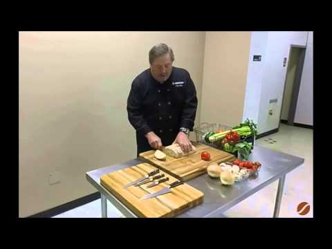 Wusthof House Executive Chef Mike at JL Hufford - Serrated Knives