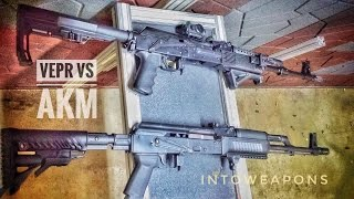 Overview of differences between the FIME VEPR AK-47-11 and a standard AKM (https://goo.gl/G3xJzs), in this example a Polish parts kit AKM.  For a first time buyer, its important to know that the VEPR wouldn't have as many customization options available as a standard AKM.Check out below for Helpful Links and More Videos!The Russian Molot made VEPR is all regards a superior firearm compared to most AKM's.  The only difference in performance, being the additional weight from the heavy barrel, receiver and trunnion.  Like most AKM's, it also has many of the desired features out of box that most buyers want to see, such as the side rail scope mount, RPK style rear sight for windage adjustment, standard configuration and magazine acceptance, and tactical looking stock and handguards.  HELPFUL LINKS:**AK Parts & Accessories:  https://goo.gl/f17kWH-PLAYLIST on all VEPR Videos (7.62x39 and 7.62x54r):  https://goo.gl/G6ylBJThanks for watching and don't forget to Like, Share, and Subscribe!  MOST POPULAR INTOWEAPONS VIDEOS:  https://goo.gl/UqPGF3MOST RECENT INTOWEAPONS VIDEOS:  https://goo.gl/ziCfqj FIND INTOWEAPONS HERE:Facebook: https://www.facebook.com/IntoWeapons/ Google+: http://plus.google.com/+intoweaponsInstagram: http://www.instagram.com/intoweapons/SPONSORS OF INTOWEAPONS:Family Shooting AcademyFSA Website:  http://www.familyshootingacademy.com/FSA YouTube: https://goo.gl/qz6ttl All Rights Reserved © 2016 IntoWeapons – Duplication, transfer or reuse of this material or excerpts thereof, is prohibited.  Send inquiries for use of this material to IntoWeapons.