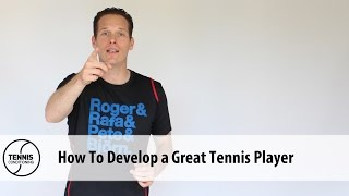 http://www.TennisConditioning.tv Player development is a complex task and requires an individual approach to coaching.Get more information: http://www.tennis-conditioning.com/2016/09/player-development-how-to-become-a-great-tennis-player/ Like the shirt? Get it at http://www.StyleConditioning.com Connect with Philipp Halfmann: http://www.PhilippHalfmann.comCONNECT WITH TENNIS CONDITIONING TV- Visit our BLOG: http://www.tennis-conditioning.com- Subscribe to Tennis Conditioning TV: http://www.youtube.com/subscription_center?add_user=TennisConditioningTV- Like us on FACEBOOK: https://www.facebook.com/TennisConditioningTV- Follow us on TWITTER : https://twitter.com/TennisCondiTV- Website: http://www.TennisConditioning.TV- YouTube Channel Page: https://www.youtube.com/TennisConditioningTV- Google+: http://www.google.com/+TennisconditioningTv_Page- Pinterest: http://www.pinterest.com/tennisconditvABOUT USwww.Tennis-Conditioning.tv provides coaches and athletes with educational content, blog posts, news articles, videos, pictures and images. We are passionate about delivering thought provoking tennis-specific news and teaching people how to do something or explaining to them why something is beneficial to them because we believe in the notion that knowledge is power. We don't like to advocate something we don't believe in. We desire to share our thoughts, it's not illegal yet, and hence enable a worldwide audience to benefit as well.Featured Tennis Conditioning TV episodes include:- Professional Tennis Training Session with Alexander Ritschard (http://youtu.be/9EnfIt739pU)- How Flexibility Impacts OnCourt Performance (http://youtu.be/HFTfuzOBKnI)- Why Core Training for Tennis Players is Important (http://youtu.be/6HHGX62GVcw)- Why Jogging is a Waste of Time for Tennis Conditioning (http://youtu.be/Sxb6zuWoCN4)- The Purpose of Athletic Conditioning (http://youtu.be/lSXpMsfkULE)- How to Treat Tennis Elbow (http://youtu.be/cVm8-h0_Sok)Interval Training: How to Get Fit for Ten