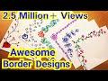 6 Border Designs | Border Designs On Paper | Project Designs | Project File Decoration Ideas
