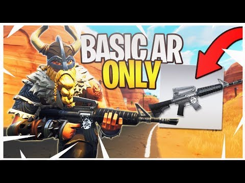 WINNING With ONLY a Grey Assault Rifle! - Fortnite Grey Only Challenge!