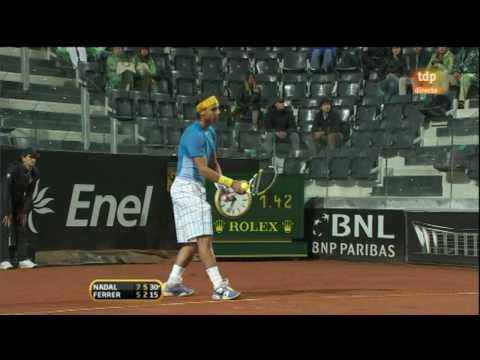 David Ferrer vs Rafael Nadal, final Roma 2010-12-03