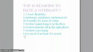 TOP 10 REASONS TO DATE A GYMNAST!