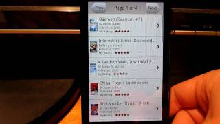 Goodreads Droid YouTube video
