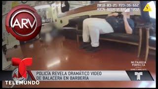 Revelan dramático video de balacera en una barbería   Al Rojo Vivo   Telemundo