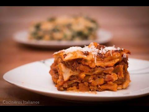 Lasaña Boloñesa Facil - Lasagna - Receta Sencilla - Cocineros Italianos