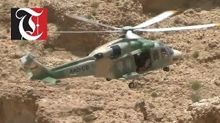Amazing Helicopter Rescue In Oman