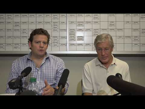 Seahawks General Manager John Schneider & Head Coach Pete Carroll Draft Day 3 Press Conference (видео)