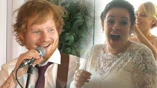 Video Ed Sheeran Surprises Deserving Wedding Couple! MP3, 3GP, MP4, WEBM, AVI, FLV Januari 2018