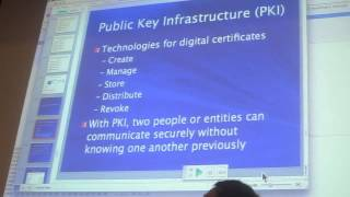 Sam's Network Security Class - Thurs 04/25/2013 - Understanding Cryptography Pt4