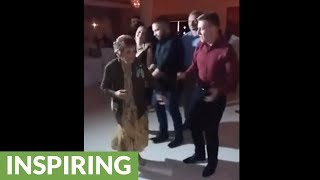 87-year-old has the time of her life dancing at wedding