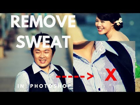 How to remove sweat / stain on shirt in Photoshop