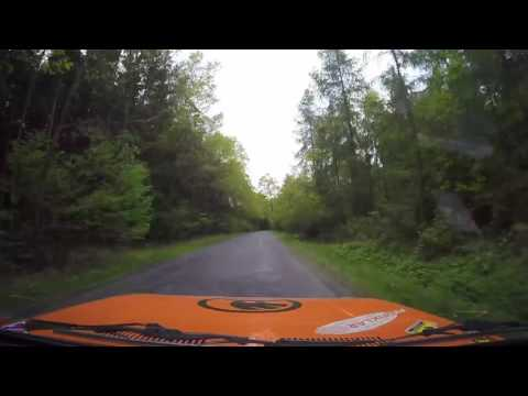 Rallycar onboard camera filmed the car midair during crash
