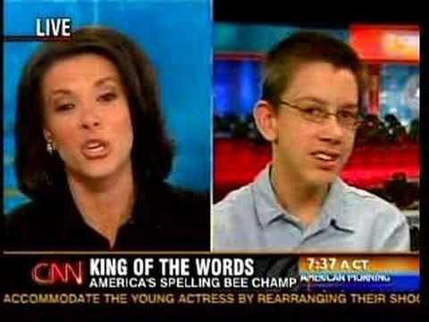 Spelling Bee Champion On CNN