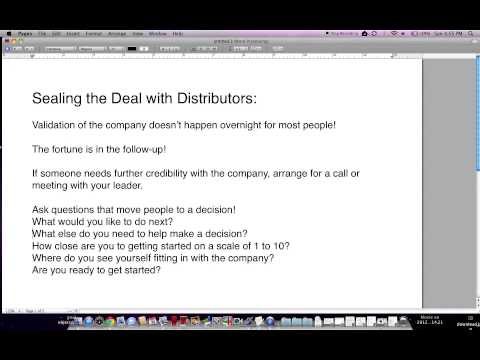 Sealing the Deal With Potential It Works Global Distributors (видео)