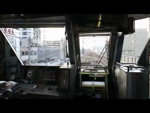 11 Mar 2012 東急線列車停止訓練・黙祷 Tokyu train-stop drill and silent tribute