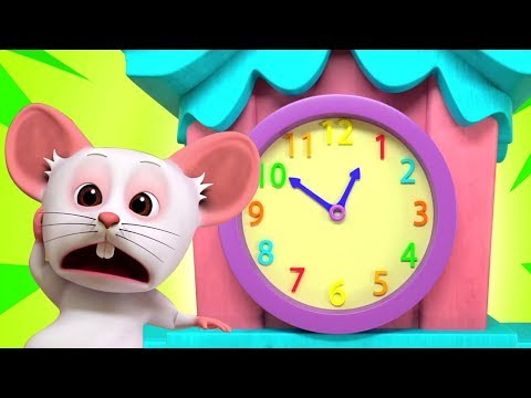 Hickory Dickory Dock | Kindergarten Nursery Rhymes for Children | Cartoons by Little Treehouse