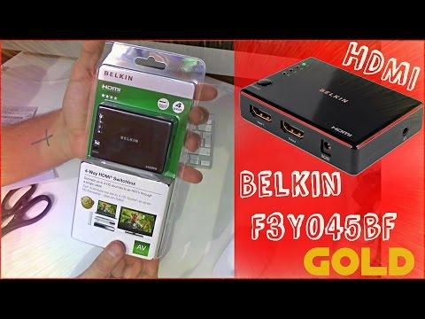 Как выбрать HDMI коммутатор Belkin F3Y045bf belkin hdmi switch for hd tv Посылка из китая 2015