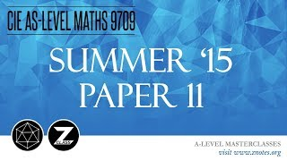 Download Lagu CIE AS Maths 9709 | S15 P11 | Solved Past Paper Mp3