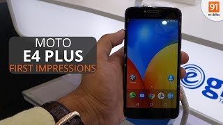 The Moto E4 Plus is a budget offering with a massive 5,000mAh battery and Android Nougat. Motorola recently launched the budget Moto C and Moto C Plus smartp...