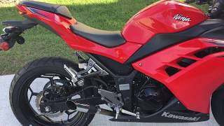9. 2016 Kawasaki ninja EX300 with radiant cycles shorty gp exhaust