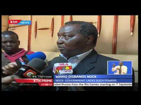 Sports CS Hassan Wario disbands NOCK