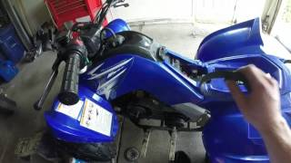 9. yamaha raptor 90 belt & primary gear change