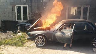 Polscy mechanicy i spalenie zaj*bistego Daimlera