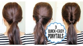 Running Late Ponytail Hairstyles | Hair Tutorial - YouTube