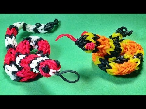 Rainbow Loom Charms: Snake (3D) – DIY Mommy Animals