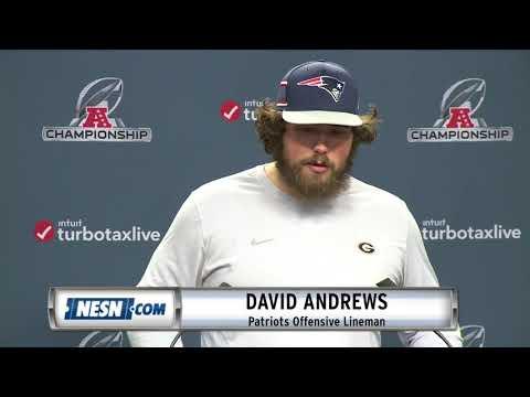Video: David Andrews Patriots vs. Chiefs AFC Championship Press Conference