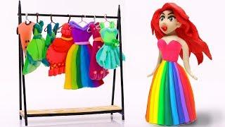 Video Pretend Play with Mermaid Princess Dresses Rainbow Colors EQUESTRIA GIRLS  40 CFKYoYo MP3, 3GP, MP4, WEBM, AVI, FLV September 2019