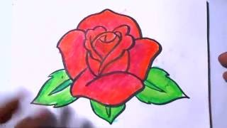 How to Draw a Rose Coloring