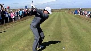 RORY MCILROY 3 WOOD DOWN LINE SCOTTISH OPEN ROYAL ABERDEEN 2014