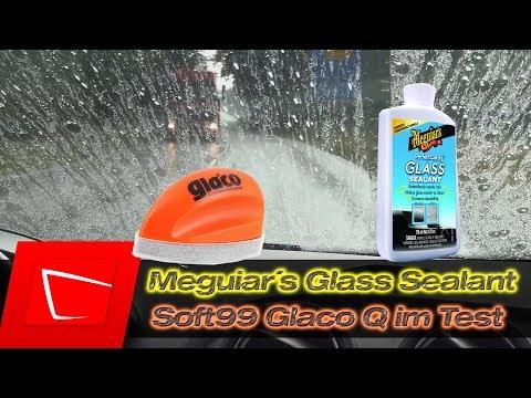 Meguiar's Perfect Clarity Glass Sealant vs. Soft99 Glaco Q - Meguiar´s Glass Compound Test