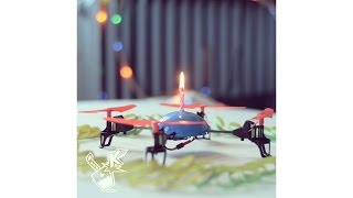Happy Birthday and Konradulations to all the birthday people. A cheap no name drone from china with four rotors and pink birthday candle burning on top. whai...