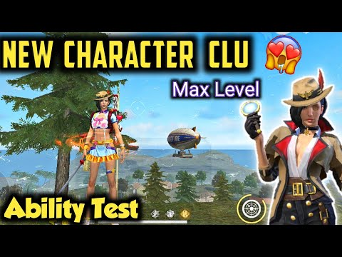Free Fire New Character Clu Ability Test & Gameplay | Max Level | Garena Free Fire Battlegrounds.