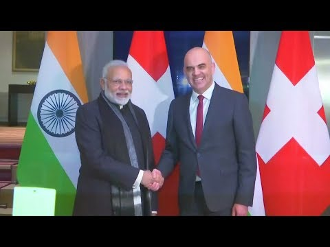 Indian PM Modi meets Swiss President in Davos