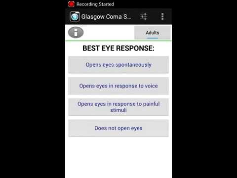 Video of Glasgow Coma Scale