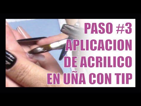 Videos de uñas -  Uñas Acrílicas Para Principiantes // VIDEO #4 Aplicación de Acrílico en uña con TIP Natural