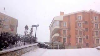 ankara keçiören osmangazı mahallesi kar yagışı