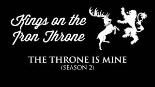 The theme for Kings Robert, Joffrey, and Tommen Baratheon that often plays in the soundtrack when they're on screen, or when a plot-point involving them is taking place.Check out the playlist for more themes, including an awesome hour-long compilation of all of them! Just press play, sit back & enjoy.Music composed by: Ramin DjawadiFont: Wisdom Script by James T. Edmondson