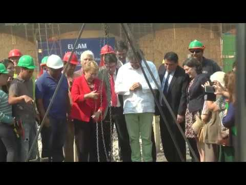 Colocación primera piedra del nuevo ELEAM de Huechuraba