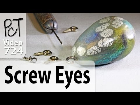 Adding Screw Eyes to Polymer Clay Charms and Pendants