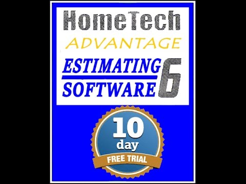 Hometech Publishing's 10 Day Free Trial of Advantage 6 Estimating Software