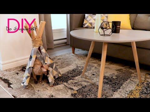 DIY: tipi pour chat