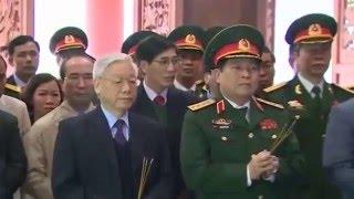 Tổng Bí thư Nguyễn Phú Trọng trồng cây lưu niệm tại K9