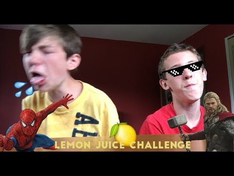 Superhero Lemon Juice Challenge (видео)