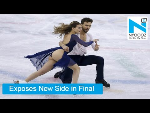 French Skater's 'SHOCKING' Wardrobe Malfunction In Winter Olympics 2018 | NYOOOZ TV (видео)