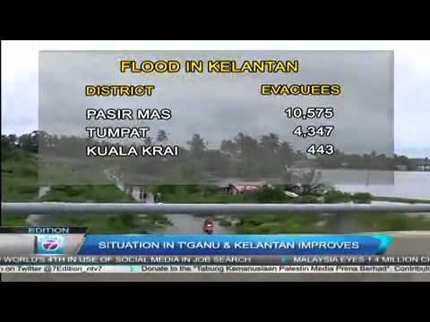 Banjir Floods | Situation In Terengganu and Kelantan Improves
